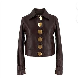 Sixties-inspired classic leather jacket